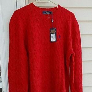 NWT RALPH LAUREN Mens wool/ casmere sweater Med